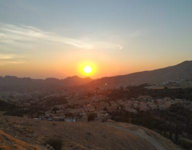 Západ slunce nad Petrou