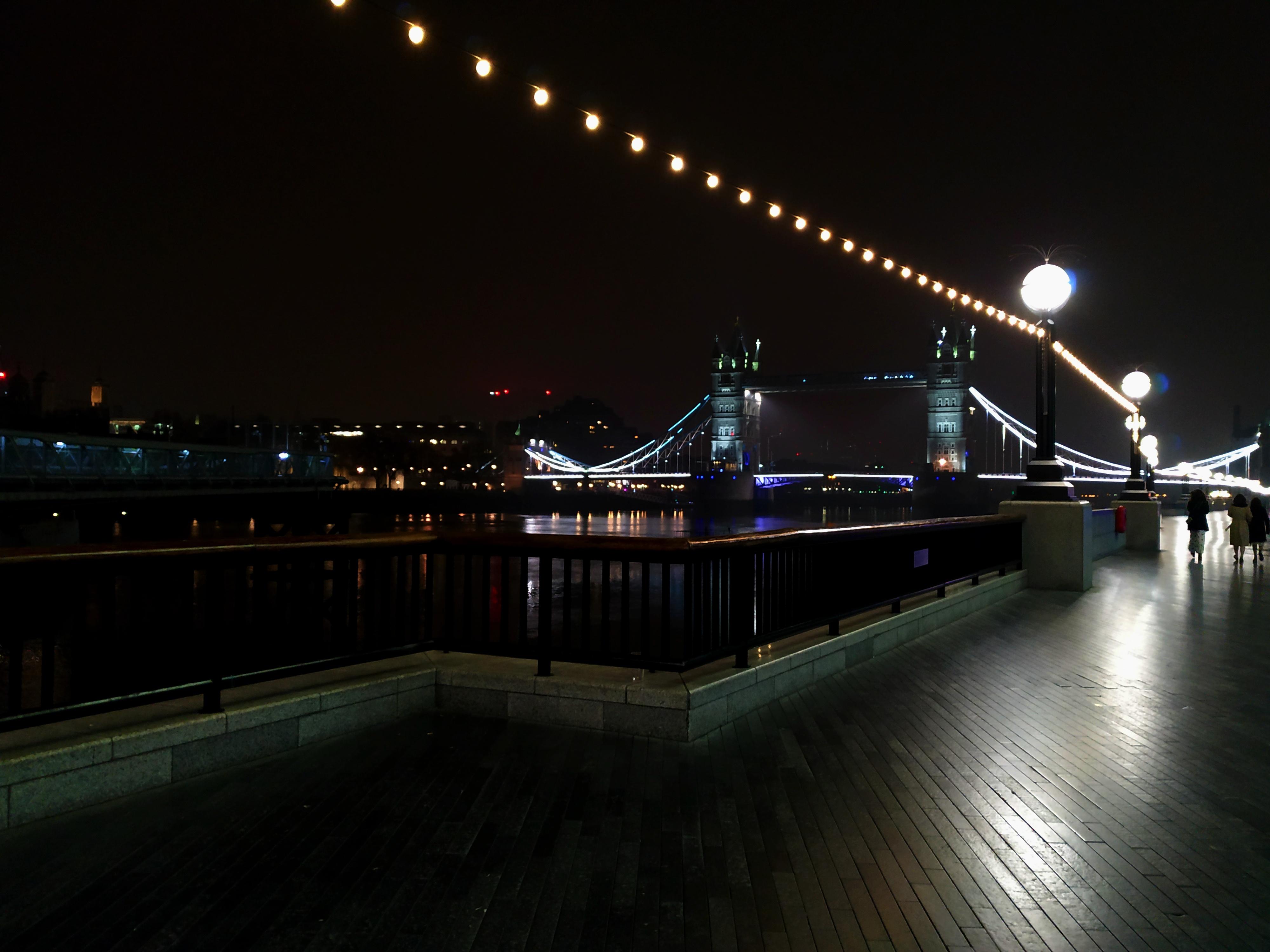 londýn, tower bridge, noc, procházka, anglie