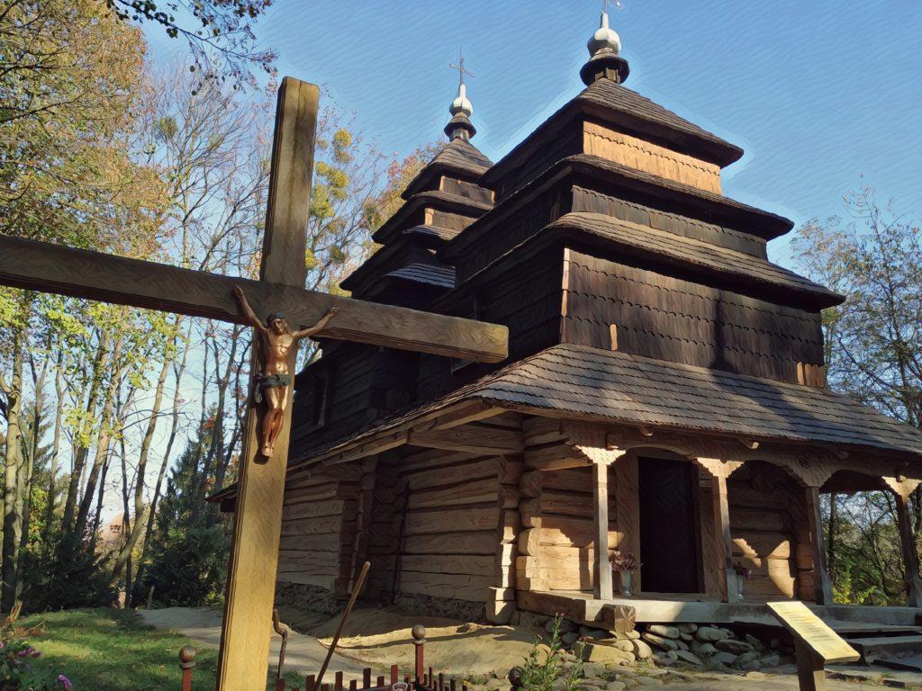 Lvov, kostel ve skanzenu