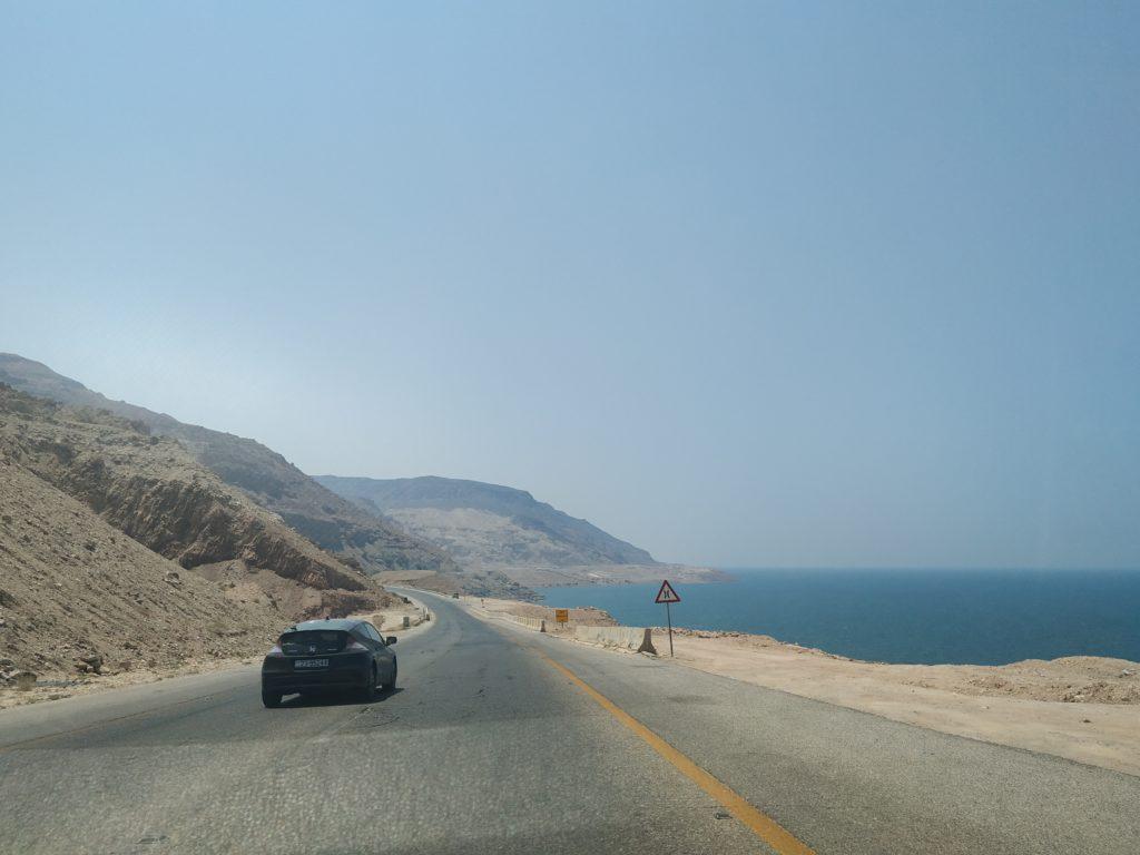 Mrtvé moře cestou do Petry