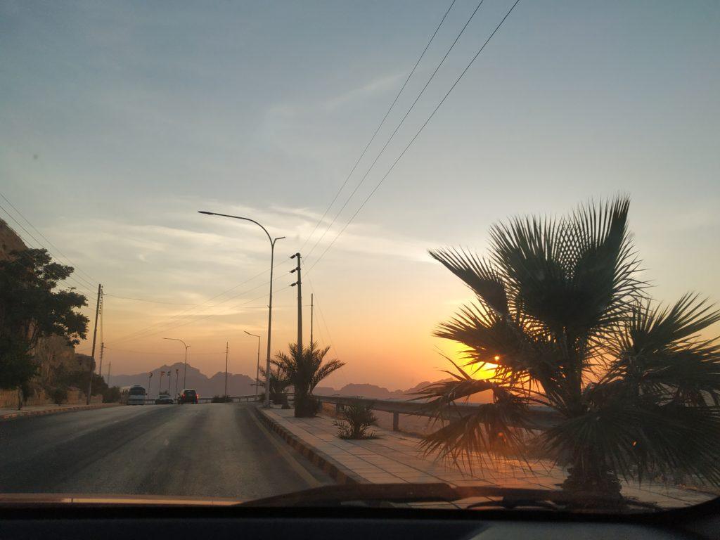 Západ slunce, Petra