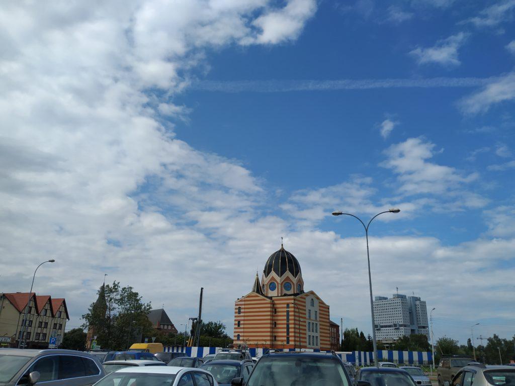 Pohled na synagogu, Kaliningrad